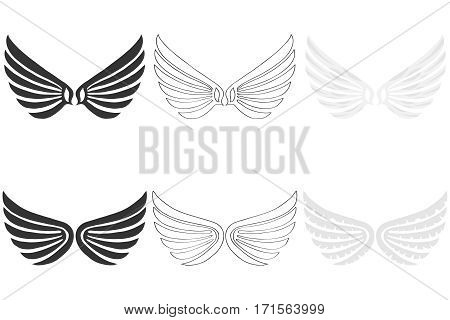 Angel wings, angel wings icon, angel, fly. Flat design, vector illustration, vector.