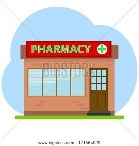 Pharmacy, pharmacy icon medicine pharmacist. Flat design, vector illustration, vector.