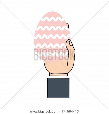 hand h painted easter egg vector illustration eps 10