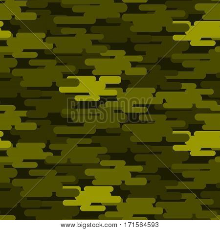 Khaki military camouflage seamless pattern army texture uniform background and clothing fashion material green soldier design vector illustration. Jungle color fabric hide canvas camo masking.