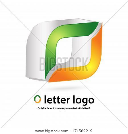 3d o letter logo 100% vector fully editable and re sizable suitable for which letter is beginning with letter n