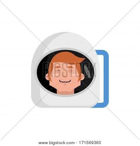 Astronaut Sleeping Emoji. Cosmonaut Asleep Emotion Isolated