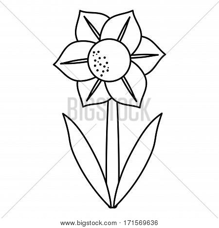 mona lisa blue flower natural thin line vector illustration eps 10