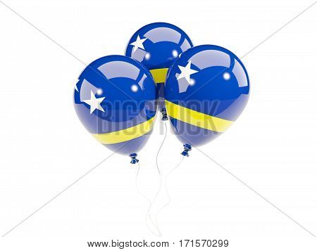Three Balloons With Flag Of Curacao