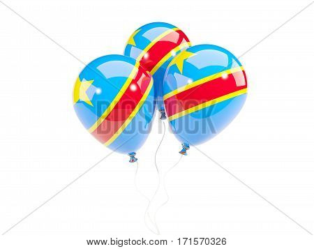 Three Balloons With Flag Of Democratic Republic Of The Congo