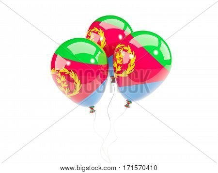Three Balloons With Flag Of Eritrea