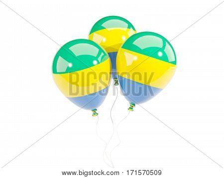 Three Balloons With Flag Of Gabon