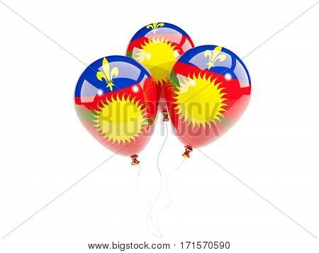 Three Balloons With Flag Of Guadeloupe
