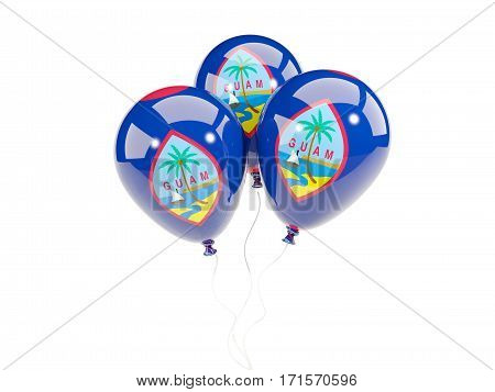 Three Balloons With Flag Of Guam