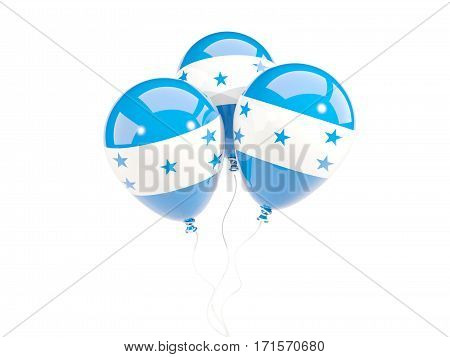 Three Balloons With Flag Of Honduras