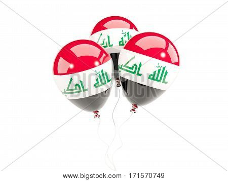 Three Balloons With Flag Of Iraq