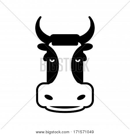 Cow Head Sign. Bull Face Symbol. Farm Animal