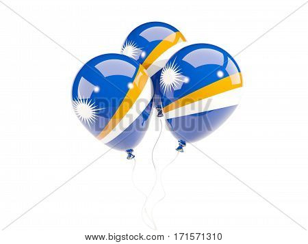 Three Balloons With Flag Of Marshall Islands
