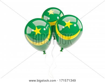 Three Balloons With Flag Of Mauritania