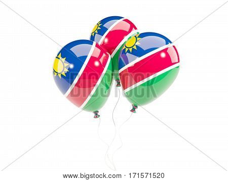 Three Balloons With Flag Of Namibia