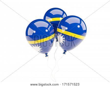 Three Balloons With Flag Of Nauru