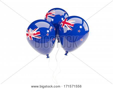Three Balloons With Flag Of New Zealand