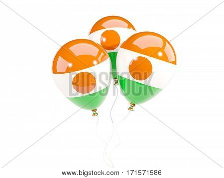 Three Balloons With Flag Of Niger