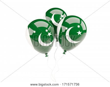 Three Balloons With Flag Of Pakistan