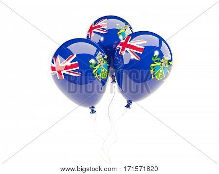 Three Balloons With Flag Of Pitcairn Islands