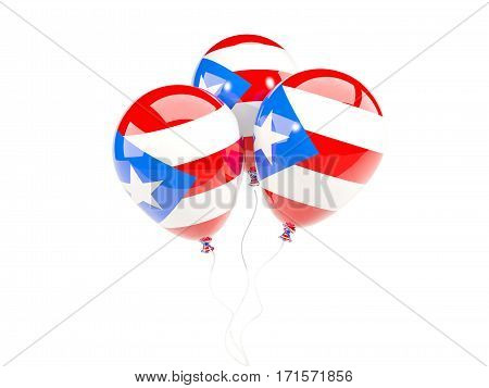 Three Balloons With Flag Of Puerto Rico