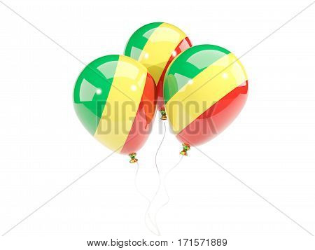 Three Balloons With Flag Of Republic Of The Congo
