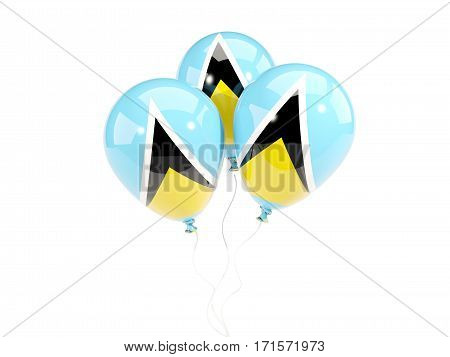 Three Balloons With Flag Of Saint Lucia