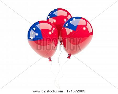 Three Balloons With Flag Of Samoa