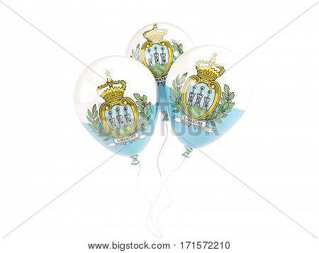 Three Balloons With Flag Of San Marino