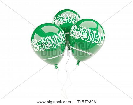 Three Balloons With Flag Of Saudi Arabia