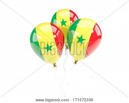 Three Balloons With Flag Of Senegal