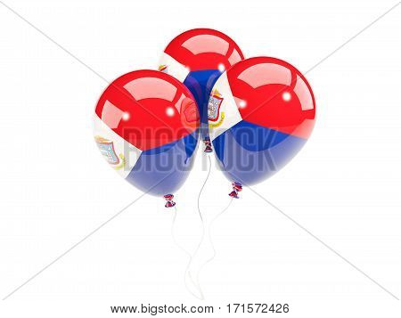 Three Balloons With Flag Of Sint Maarten