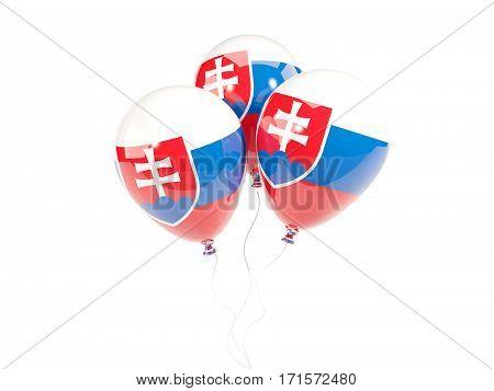Three Balloons With Flag Of Slovakia