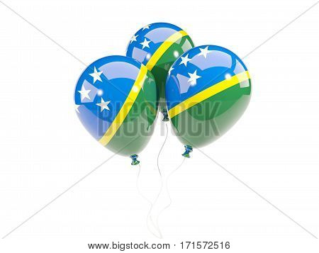 Three Balloons With Flag Of Solomon Islands