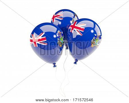 Three Balloons With Flag Of South Georgia And The South Sandwich Islands