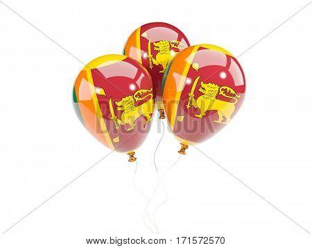 Three Balloons With Flag Of Sri Lanka