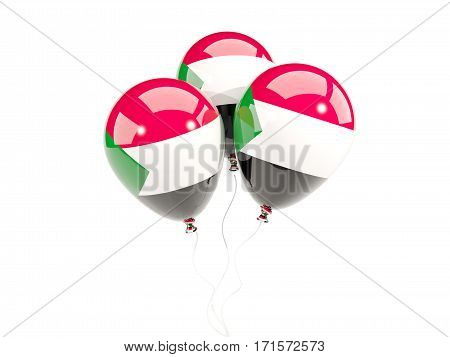 Three Balloons With Flag Of Sudan