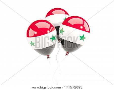 Three Balloons With Flag Of Syria