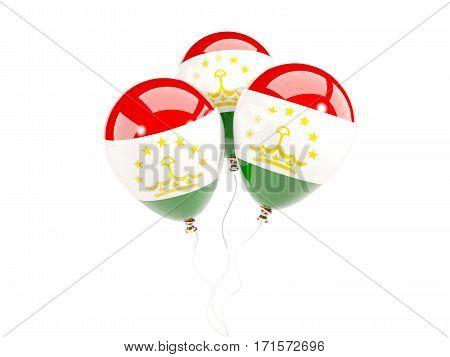 Three Balloons With Flag Of Tajikistan