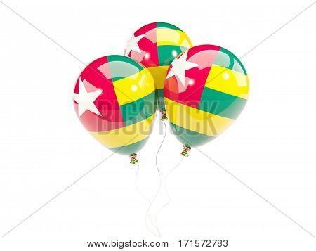 Three Balloons With Flag Of Togo