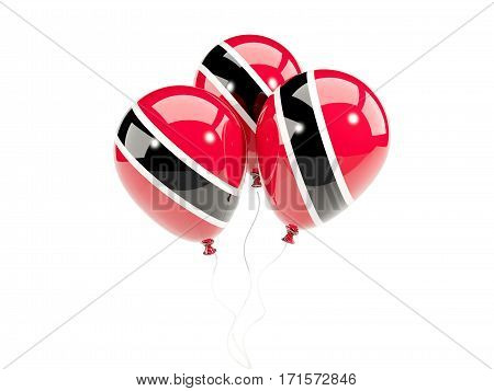 Three Balloons With Flag Of Trinidad And Tobago