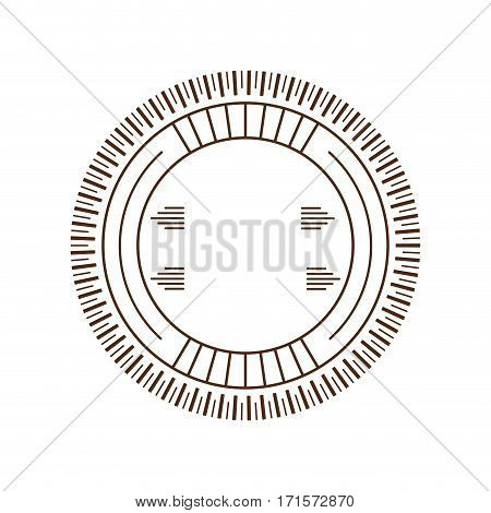 circle decorative frame sticker vector illustration eps 10