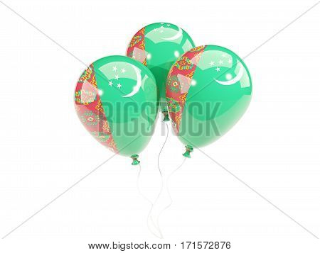 Three Balloons With Flag Of Turkmenistan