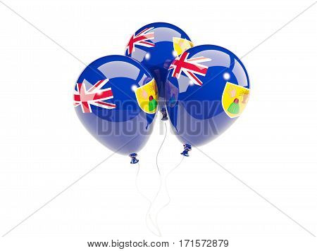 Three Balloons With Flag Of Turks And Caicos Islands