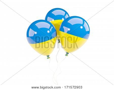 Three Balloons With Flag Of Ukraine