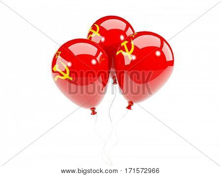 Three Balloons With Flag Of Ussr