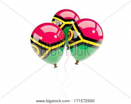 Three Balloons With Flag Of Vanuatu