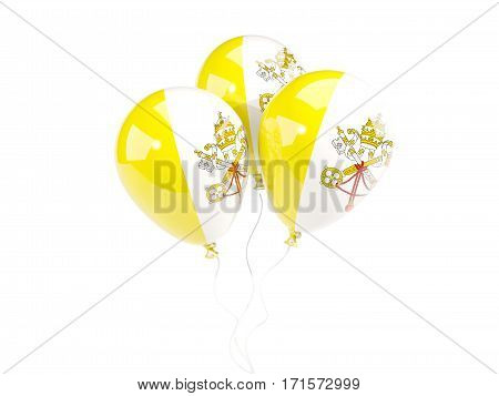 Three Balloons With Flag Of Vatican City