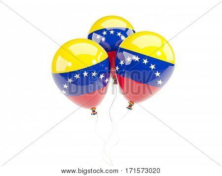 Three Balloons With Flag Of Venezuela