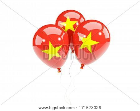 Three Balloons With Flag Of Vietnam